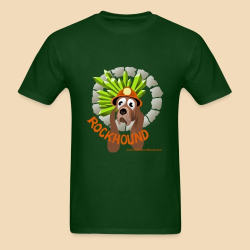 Rockhound mens hunter green T shirt - Men's T-Shirt