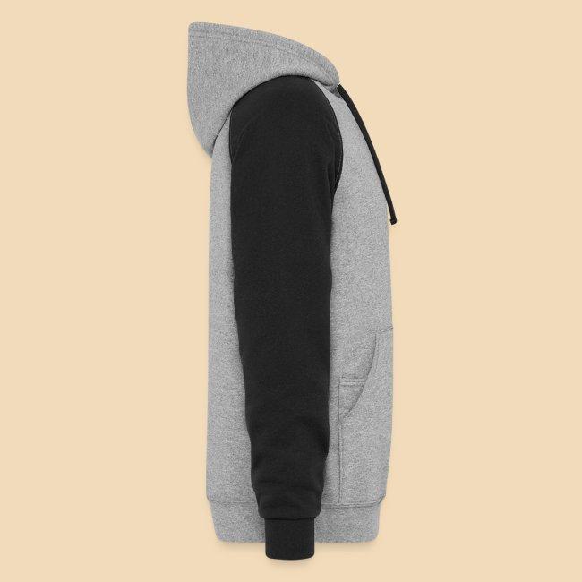 Rockhound on men's black/grey color block hoodie