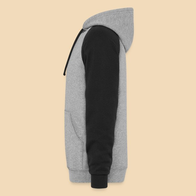 Rockhound on men's black/grey color block hoodie