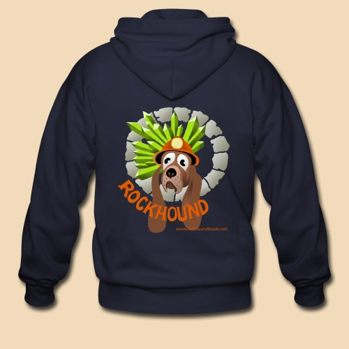 Rockhound navy blue zip hoodie - Men's Zip Hoodie