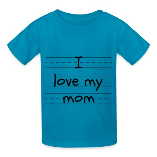 I love my mom - Kids' T-Shirt