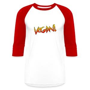 Vegan Hot Rod - Unisex Baseball T-shirt - Baseball T-Shirt