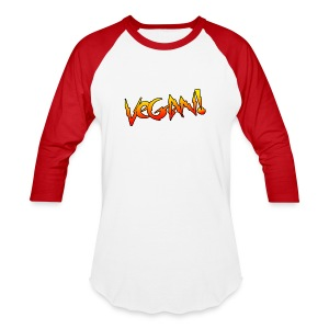 Vegan Hot Rod - Unisex Baseball T-shirt - Baseball T-Shirt