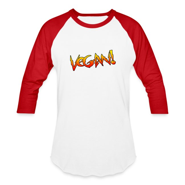 Vegan Hot Rod - Unisex Baseball T-shirt