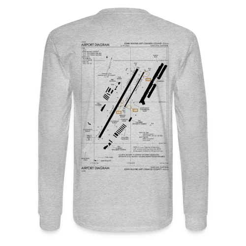 Retro Aviation Science Long Sleeve Shirt - Men's Long Sleeve T-Shirt