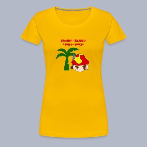 Smurf Island Ladies T-Shirt - Women's Premium T-Shirt