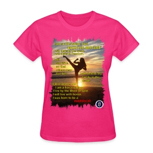 Warrior poem, womens, front - Women's T-Shirt