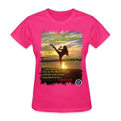 Warrior poem, womens, front - Women's T-Shirt