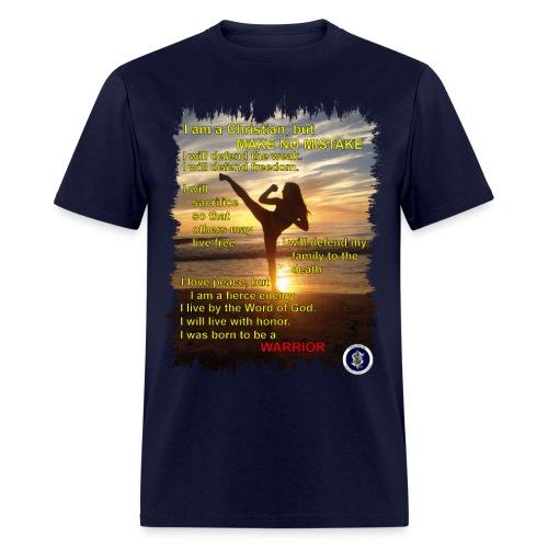 Warrior poem, mens, front - Men's T-Shirt