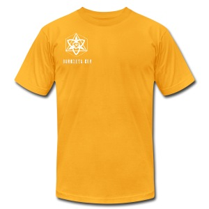 The Trinity of creation (T-Shirt AA)(Yellow) - Men's T-Shirt by American Apparel