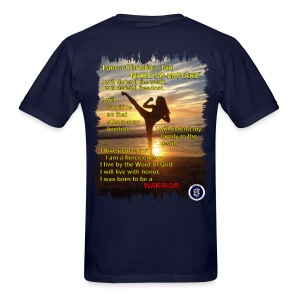 Warrior poem, mens, back - Men's T-Shirt