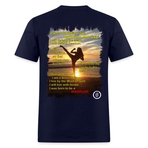 Warrior poem, mens, back - Men's T-Shirt