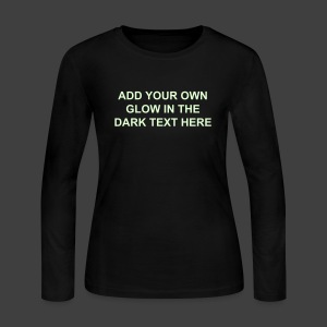 Make Your Own Glow in the Dark Long Sleeve Shirt - Women's - Women's Long Sleeve Jersey T-Shirt