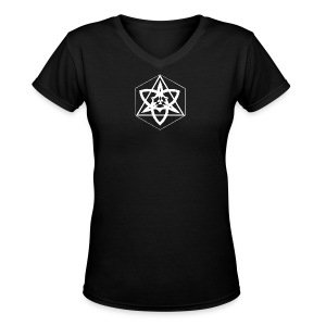 The Trinity of creation Women's V-Neck (Black) - Women's V-Neck T-Shirt
