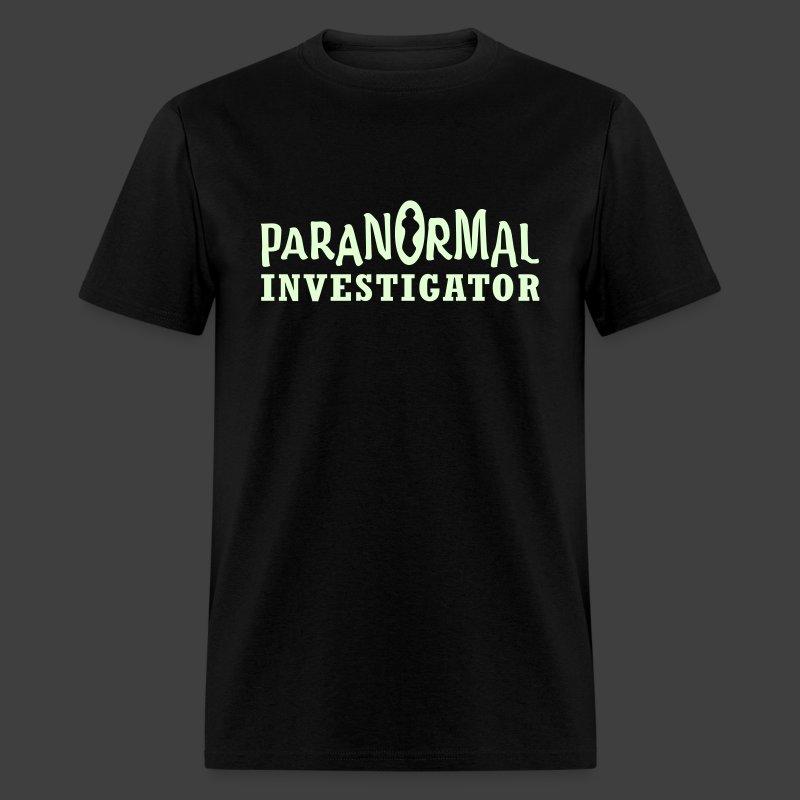 Men's Paranormal Investigator Glow in the Dark Shirt T ...
