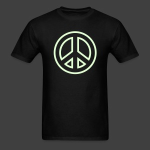 Men's Peace Sign Glow in the Dark Shirt - Men's T-Shirt