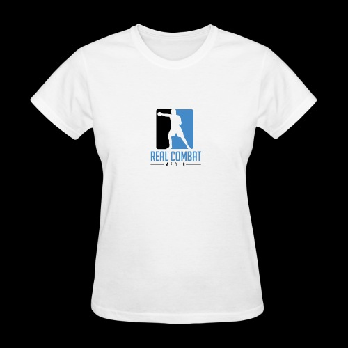 Real Combat Media Classic Women's White Edition - Women's T-Shirt