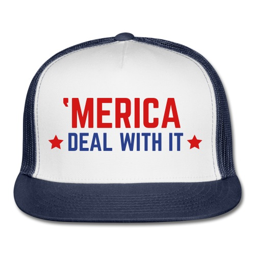 'Merica Deal With It Hat - Trucker Cap