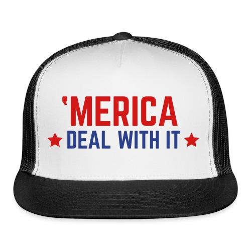 'Merica Deal With It Hat - Trucker Cap
