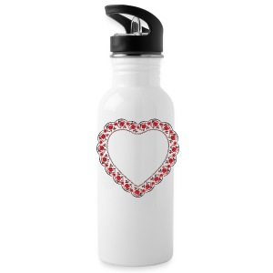 Heart red rose pattern Sportswear - Water Bottle
