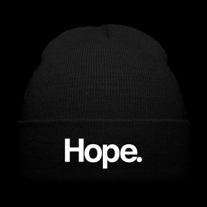 Hope. Beanie - Knit Cap with Cuff Print