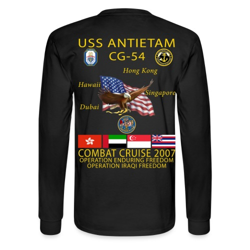 USS ANTIETAM CG-54 2007 CRUISE SHIRT - LONG SLEEVE - Men's Long Sleeve T-Shirt