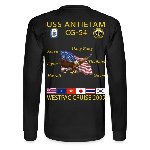 USS ANTIETAM CG-54 2009 CRUISE SHIRT - LONG SLEEVE - Men's Long Sleeve T-Shirt