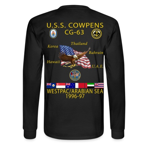 USS COWPENS CG-63 1996-97 CRUISE SHIRT - LONG SLEEVE - Men's Long Sleeve T-Shirt