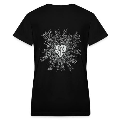 Lightsong High Frequency Ladies V-Neck - Women's V-Neck T-Shirt