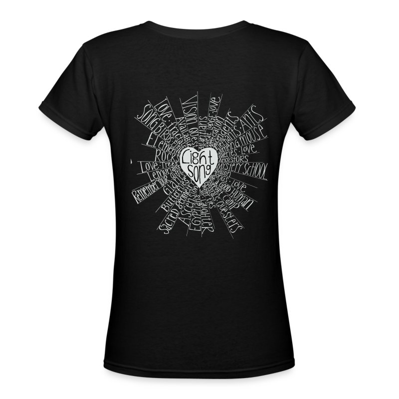 Lightsong High Frequency Ladies V-Neck - Women's V-Neck T-Shirt