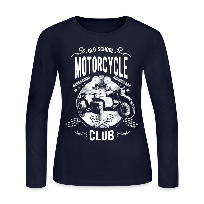 old school motorcycle club long sleeve shirt spreadshirt