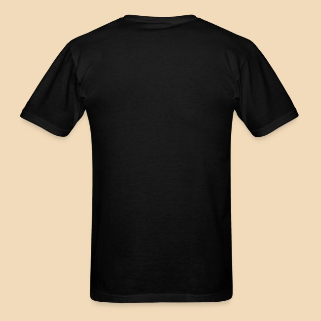 rockhound (left chest) standard mens black T shirt