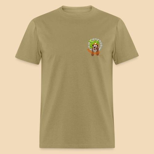rockhound (left chest) standard mens kaki T shirt - Men's T-Shirt