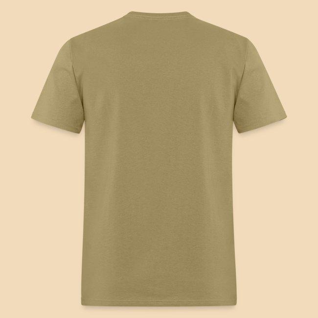 rockhound (left chest) standard mens kaki T shirt