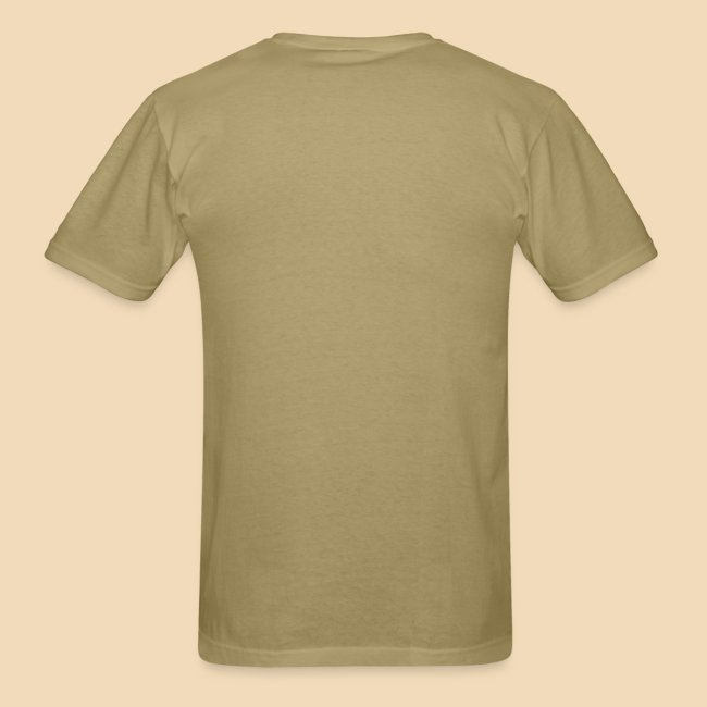 rockhound (left chest) standard mens kaki T shirt