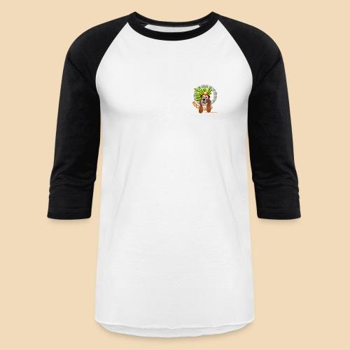Rockhound Men's Black/White Baseball T-Shirt - Baseball T-Shirt