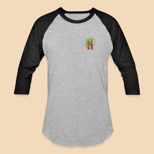 Rockhound Men's Black/Grey Baseball T-Shirt - Baseball T-Shirt