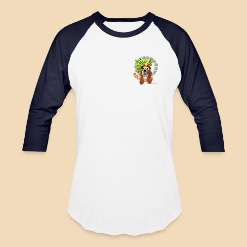 rockhound Blue White Mens Baseball T shirt - Baseball T-Shirt