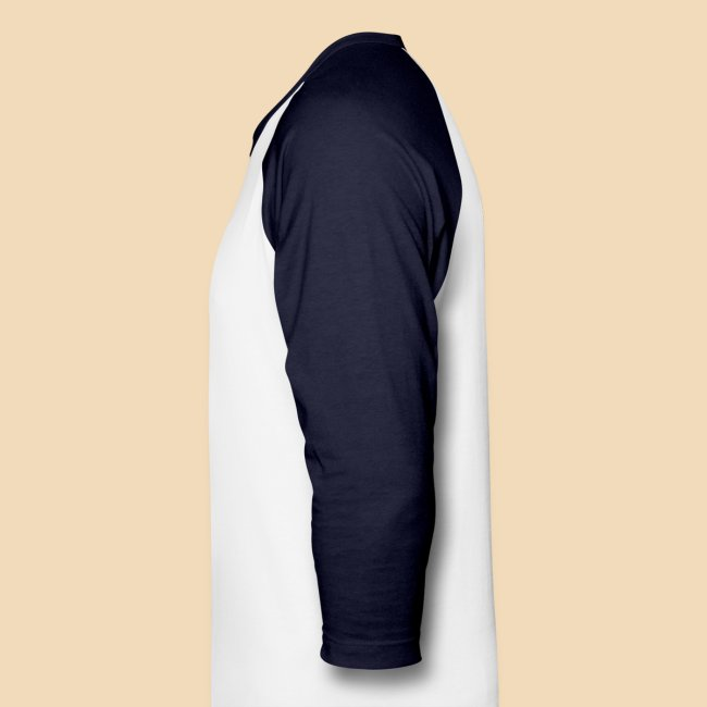 rockhound Blue White Mens Baseball T shirt