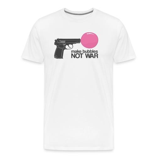 Make bubbles not war - Men's Premium T-Shirt