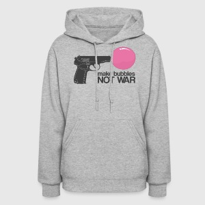Make bubbles not war Hoodies - Women's Hoodie