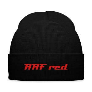 Official AAF red beanie  - Knit Cap with Cuff Print