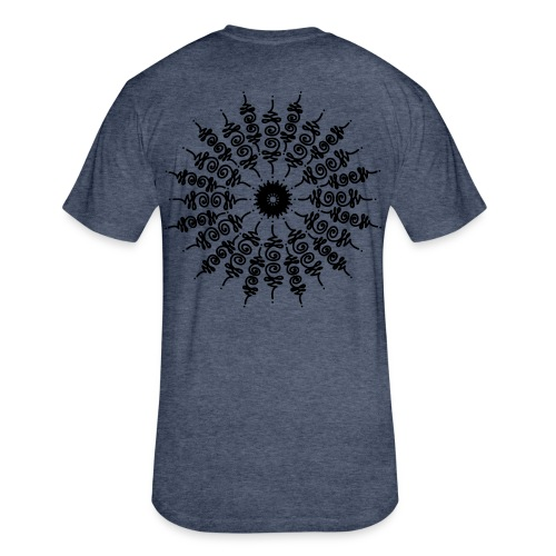 Manalome - Back Print - Fitted Cotton/Poly T-Shirt by Next Level