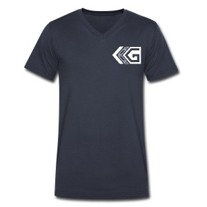 Black Gainz V-Neck - Men's V-Neck T-Shirt by Canvas