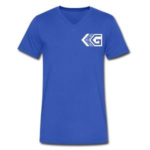 Blue Gainz V-Neck - Men's V-Neck T-Shirt by Canvas