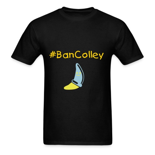 #BanColley Condom Banana - Men's T-Shirt