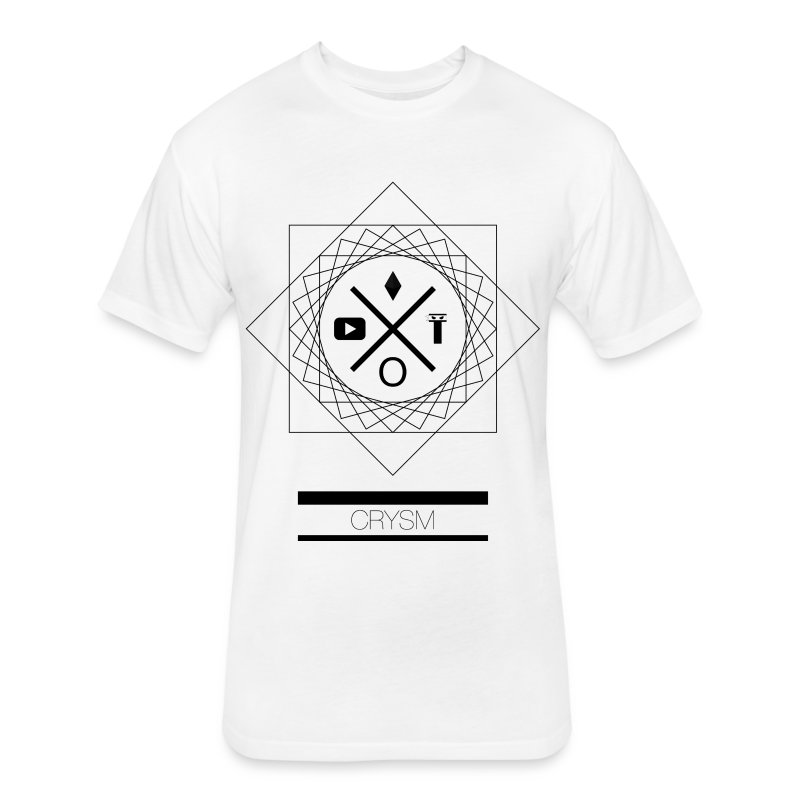 TSC Black Geo Graphic - Fitted Cotton/Poly T-Shirt by Next Level