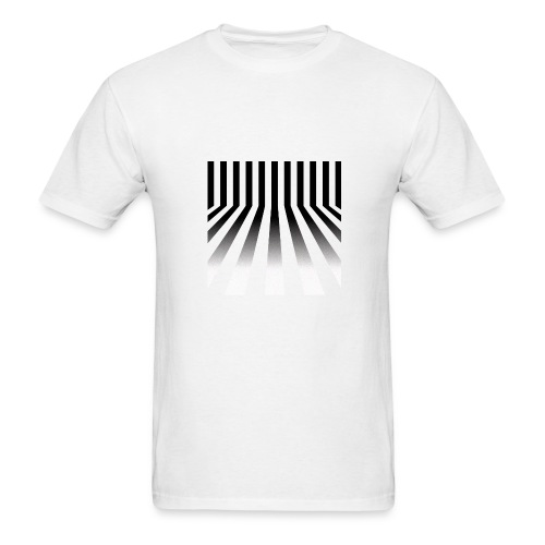 Bars Men's White Tee - Men's T-Shirt