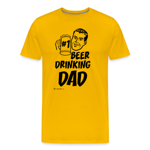 #1 Beer Drinking Dad Men's Premium T-Shirt - Men's Premium T-Shirt