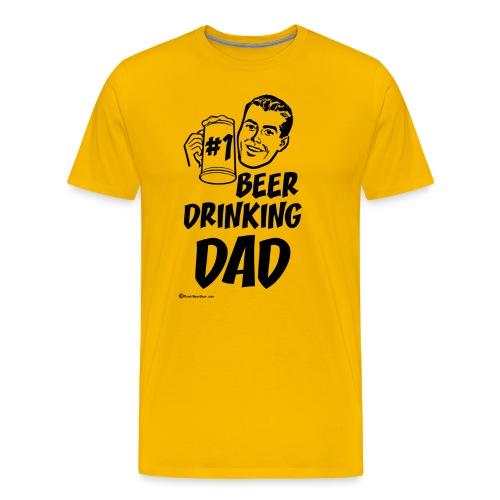 #1 Beer Drinking Dad Men's Premium T-Shirt - Men's Premium T-Shirt